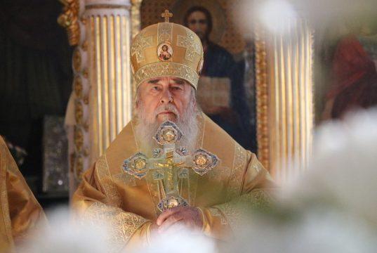 В день 25-летия служения на Днепропетровской кафедре – митрополит Ириней совершил Божественную Литургию