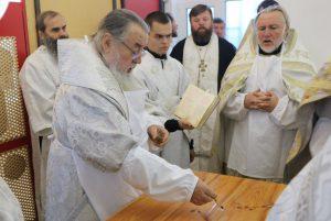 Митрополит Ириней совершил Великое освящение храма в Новомосковске