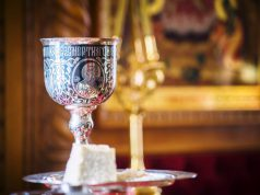 В первую пятницу октября совершена Литургия в домовом храме
