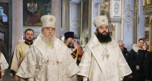 Во второй день Рождественских святок митрополит Ириней посетил Спасо-Преображенский кафедральный собор г. Днепра