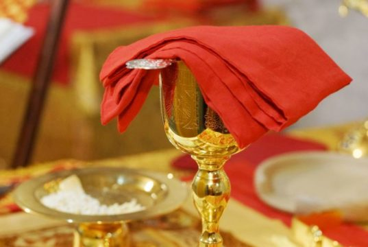 Божественная Литургия в домовом храме при Административно-Епархиальном Центре