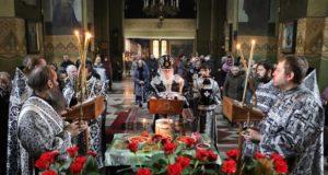 Служение управляющего Днепропетровской епархией митрополита Иринея в пятницу первой седмицы Великого поста 2019 года
