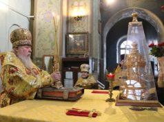 В Неделю Торжества Православия митрополит Ириней совершил Литургию и чин Торжества Православия в главном храме Днепропетровской епархии