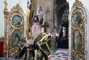 Митрополит Ириней совершил Литургию Преждеосвященных Даров