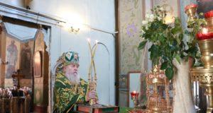 В праздник Входа Господня в Иерусалим митрополит Ириней совершил Литургию в Свято-Троицком кафедральном соборе г. Днепра