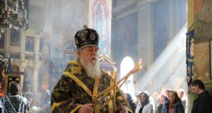Митрополит Ириней совершил последнюю в Великом посту 2019 года Литургию Преждеосвященных Даров