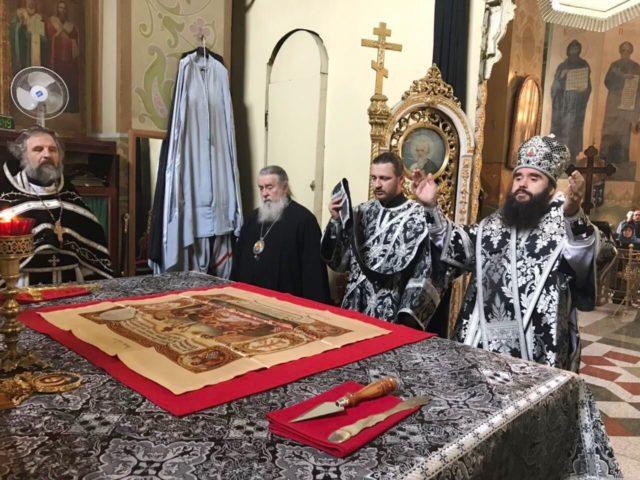 Епископ Петропавловский Андрей совершил Литургию Преждеосвященных Даров
