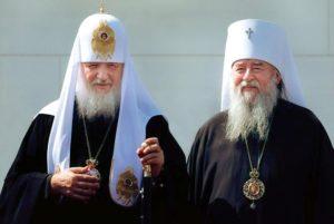 Патриарх Кирилл поздравил митрополита Иринея с 80-летием