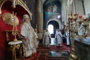 Архипастырское служение митрополита Иринея в Неделю 7-ю по Пасхе