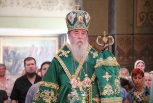 В канун Дня Святой Троицы митрополит Ириней возглавил всенощное бдение в Свято-Троицком кафедральном соборе г. Днепра