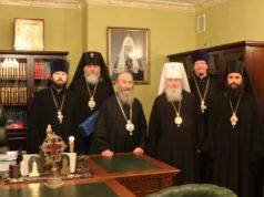 Иерархи Днепропетровской епархии вместе со своим Предстоятелем молитвенно отметили день его Ангела