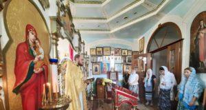 В последнюю пятницу июня совершена Литургия в домовом храме