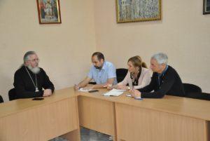 Викарий Днепропетровской епархии Архиепископ Новомосковский Евлогий провел рабочие встречи с представителями ОБСЕ