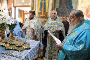 В праздник «Почаевской» иконы Богородицы торжество в Трехсвятительском храме