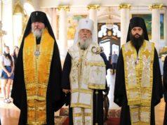 Иерархи Днепропетровской епархии совершили молебное пение в день Независимости Украины