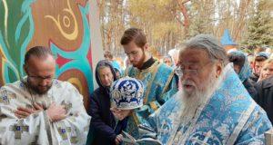 Митрополит Ириней возглавил престольное торжество храма в честь иконы Божией Матери «Иверской» на ж/м «Северный» г. Днепра