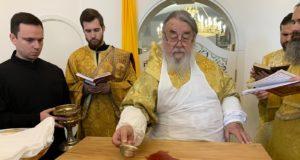 В Неделю 23-ю по Пятидесятнице митрополит Ириней совершил чин великого освящения нижнего храма в честь мч. Иоанна Воина на ж/м Сокол г. Днепра