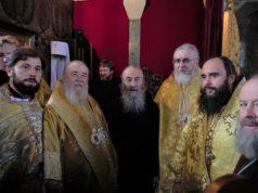 Иерархи Днепропетровской епархии поздравили Блаженнейшего Митрополита Онуфрия с 29-летием архиерейского служения