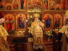 В день престольного торжества митрополит Ириней посетил храм в честь святого великого князя Александра Невского на жм Игрень г. Днепра