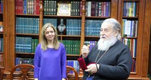 Митрополит Ириней поздравил Наталью Ефимову с жизненным юбилеем