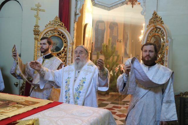 Митрополит Ириней возглавил Божественную литургию в праздник Рождества Христова 2020 года