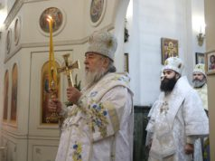 Митрополит Ириней возглавил престольное торжество в храме-памятнике в честь Собора Предтечи и Крестителя