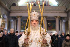 В Неделю 30-ю по Пятидесятнице митрополит Ириней посетил Спасо-Преображенский кафедральный собор г. Днепра