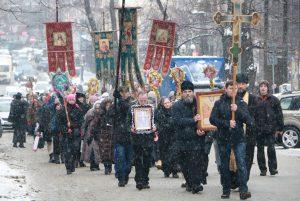 Крестный ход в день памяти Мучеников 14000 младенцев, от Ирода в Вифлееме избиенных